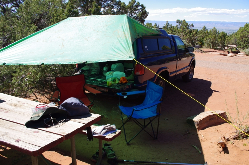 Style Car Camping Gives Some Good Ideas If You Want To Get More Elaborate The Part Of About Using A Tarp Extend Truck Shelter Is Esp Useful