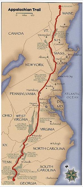 Appalachian Trail Map