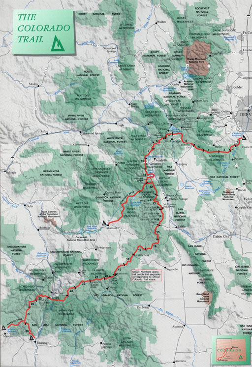 Colordao Trail map