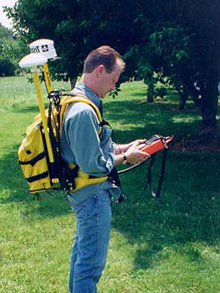 Backpack mounted survey class GPS. From NOAA.