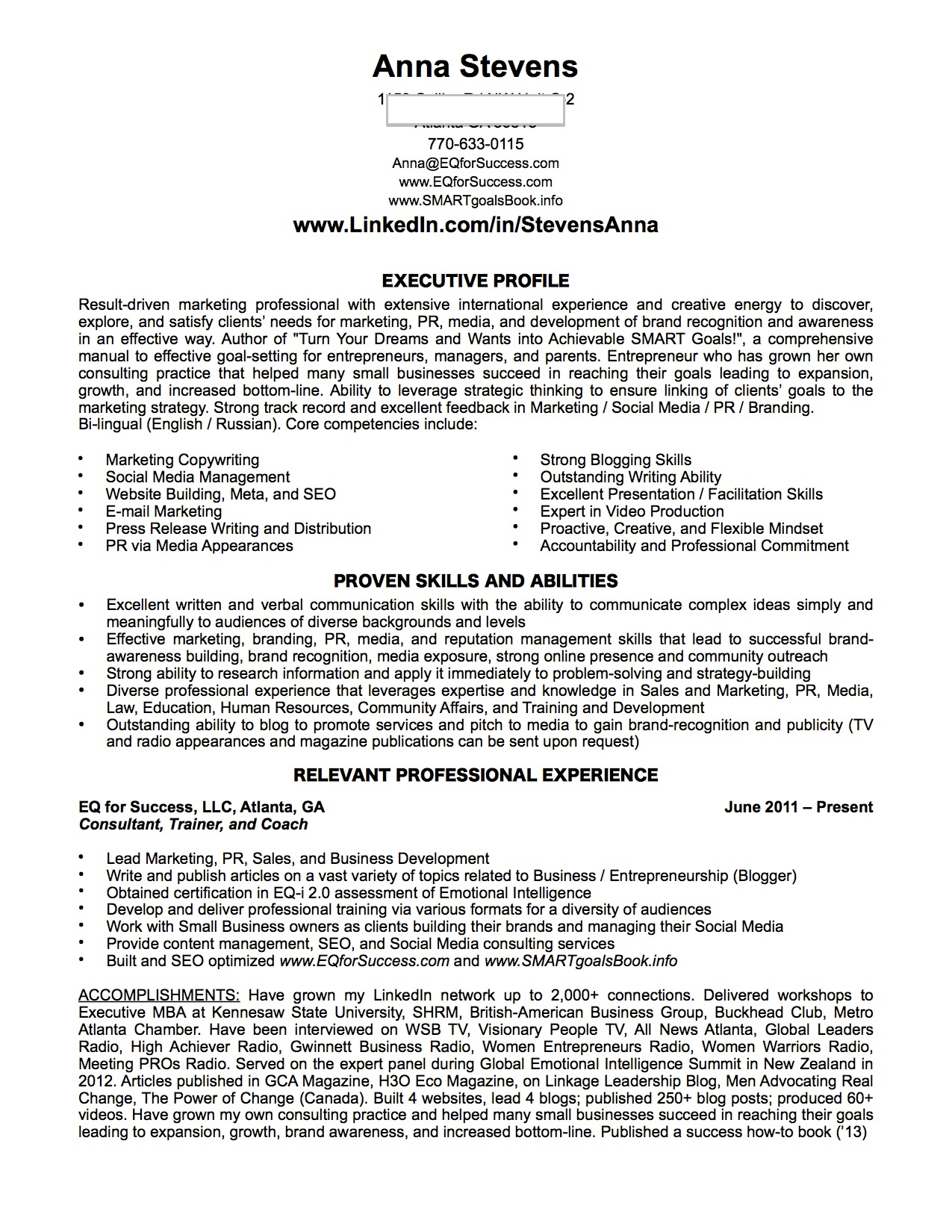 Sample Resume For Mba Admission Career Coaching Pmba Pmba At Robinson