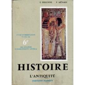Histoire, L'antiquité (6e) de E., Personne