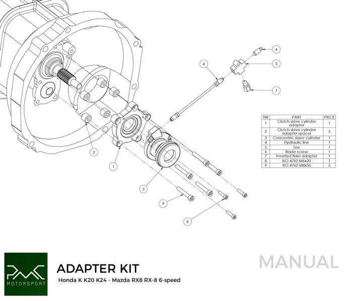 Flywheel Honda K- Mazda RX8 6-speed Mazda RX-8 6-speed
