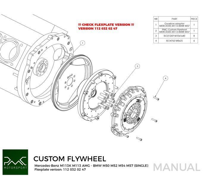 PMC Motorsport Custom Flywheel Mercedes-Benz M112 M113
