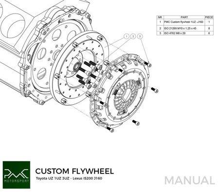 PMC Motorsport Adapter Kit Toyota Lexus V8 UZ 1UZ 3UZ