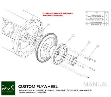PMC Motorsport Custom Ultralight Flywheel Mercedes-Benz