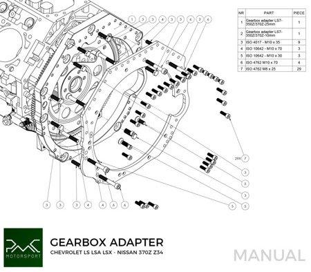 PMC Motorsport Gearbox Adapter / Adaptor Plate Chevrolet