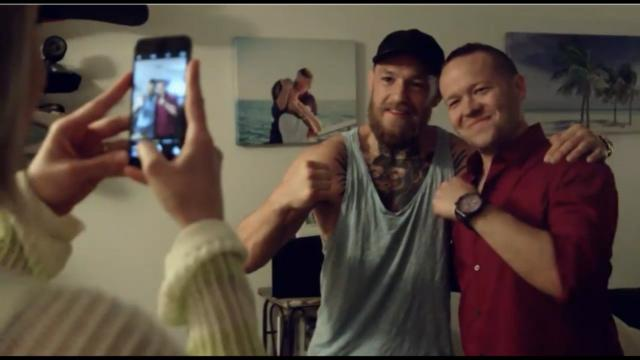 McGregor visits a fan's home