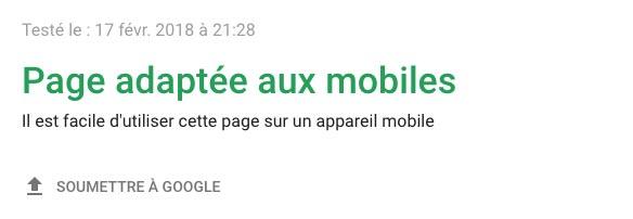 Site web adapté aux mobiles