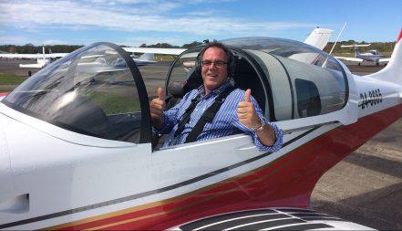 Paul in plane