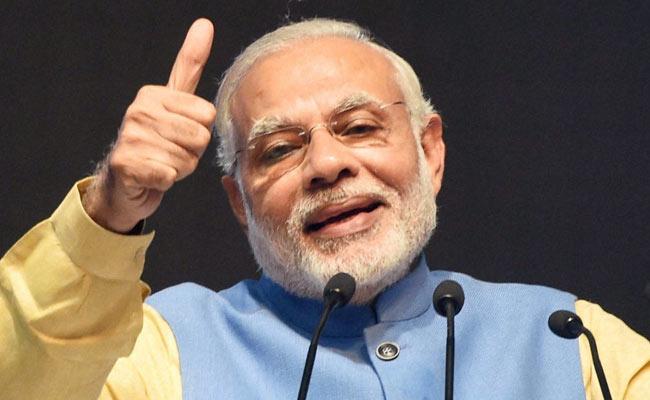 Modi BHIM Digital payment App Using Thumb