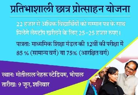Pratibhashali Chhatra Protsahan Yojana MP