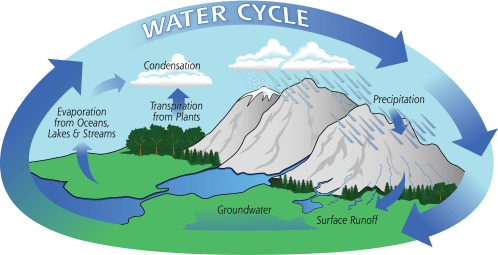 small resolution of diagram of the water cycle showing evaporation condensation and precipitation