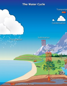 Diagram of earth   water cycle showing evaporation transpiration condensation and preciptiation also the global precipitation measurement missions rh pmmsa