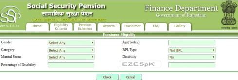 Pensioner Eligibility
