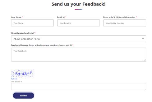 feedback form