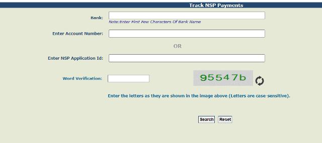 NSP Payment Status