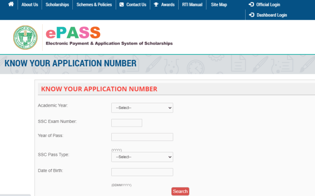 know application number