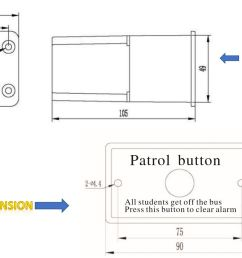 school bus security patrol system description sps 11  [ 1836 x 882 Pixel ]