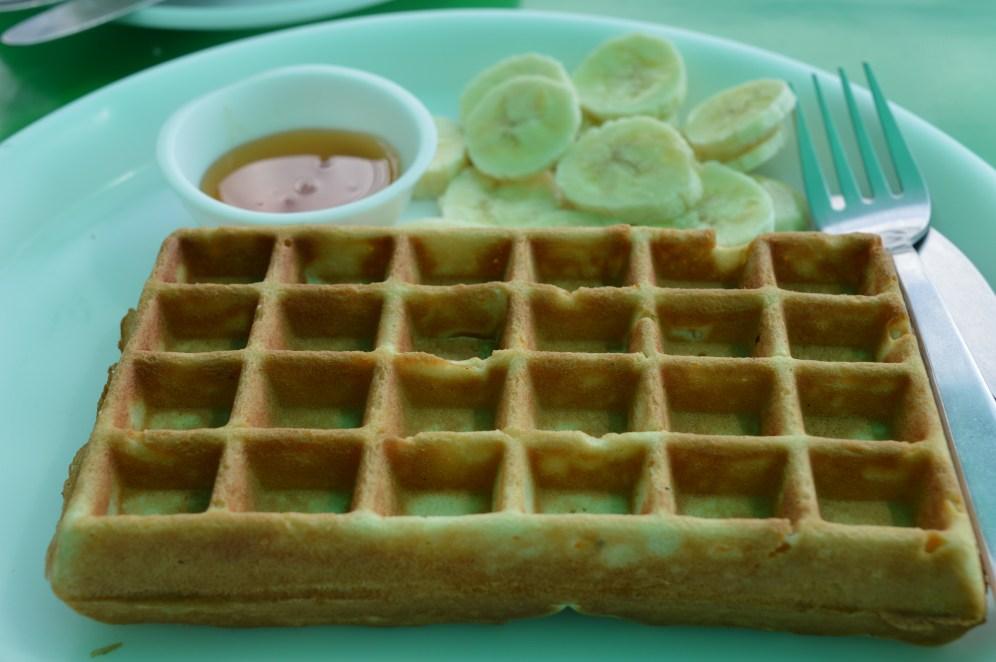 Banana Waffle with honey