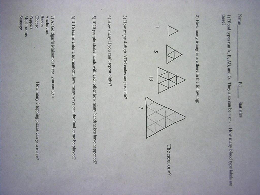 Pmoss Math 1b Handouts