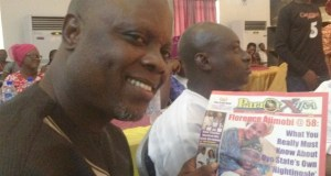 ...Dele Odule...proudly endorsing our sister Publication, Parrot Xtra Magazine...during our brief encounter...