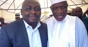 Sheik Muhydeen Ajani Bello, left, with Chief Adebayo Adelabu at the event…