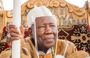 The Olubadan of Ibadanland, Oba Saliu Adetunji...