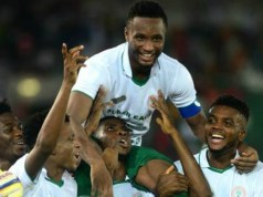Jubilant Super Eagles of Nigeria