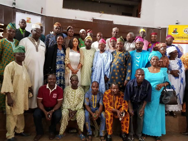 Some of the SGB chairmen in a group picture with Dr Bisi Akin-Alabi…