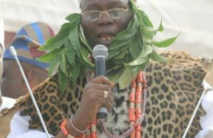Aare Gani Adams...delivering his powerful message...