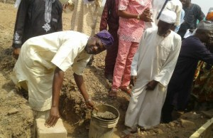 Hon. Ademola Akeem Ige laying the foundation for the construction of the community police station for Adeyemo Saint Luke's College area, Ibadan…
