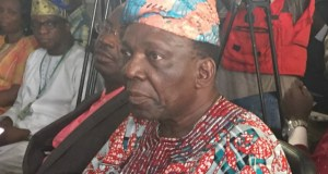 Chief Adegboye Onigbinde...during the launch of Odua Football League last week...