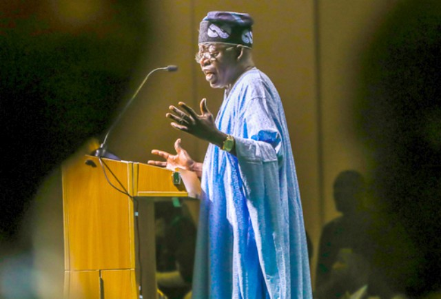 ...Asiwaju Bola Tinubu...delivering his speech during his 66th birthday...