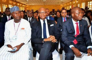 Principal, International School UNILAG, Dr. M. Brai Malik, Group Managing Director, United Bank for Africa, Mr. Kennedy Uzoka and Executive Director, Lagos and West Bank, Marketing, Liadi Ayoku, during the launch of the bank's online Learning Platform for students that was held at ISL, Lagos, on Thursday…