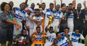 ...jubilant 3SC footballers after emerging champions...