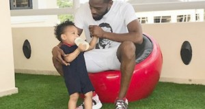 D'banj, and his son, Daniel...
