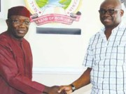 Dr Kayode Fayemi, left, with Governor Ayodele Fayose...