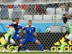 Action time during the encounter...Super Eagles of Nigeria won 2-0