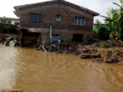 …one of the buildings affected by the flood in Abeokuta…