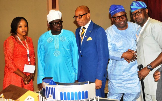 From left: Special Adviser to Oyo state governor on Education, Dr Bisi Akin-Alabi, Chief of staff to Oyo state governor, Dr. Gbade Ojo, President, Nigerian-British Business Forum, Mr. Afolabi Andu, Oyo SSG, Alh. Olalekan Alli and Medical Director, Liberty-Life Hospital, Lagos, Dr. Benjamin Olowojebutu at the event…