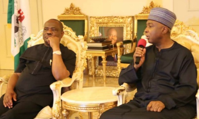 President of the Senate, Dr. Abubakar Bukola Saraki during his condolence visit to the Governor of Rivers State, Barr. Nyesom Wike…