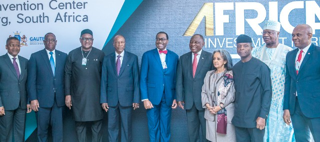 Vice President of Nigeria Yemi Osinbajo in a family photo consisting of other African Presidents and captains of industries…is South Africa…