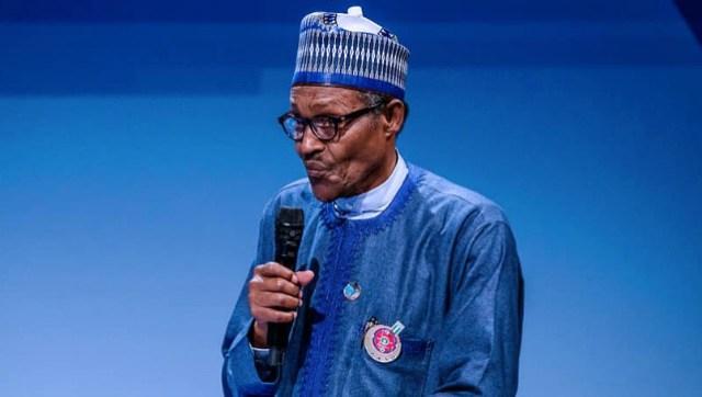 President Muhammadu Buhari...in Paris...