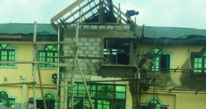 ...Yinka Ayefele's Music House...last week...when the reconstruction project started...