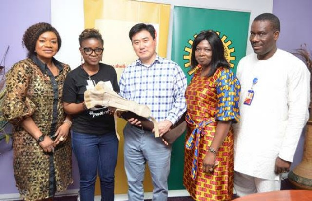 L-R: Delivery Integration Manager, Shell Nigeria Exploration and Production Company (SNEPCo), Yemi Asaolu; Founder, Irede Foundation, Crystal Chigbu; SNEPCo's Finance Director, John Choi; Clinical Health Adviser, Dr. Olayinka Mosuro; and Social Performance/Investment Adviser, Hope Nuka, at the event…
