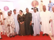 L-R: A former Governor of Oyo State, Dr. Omololu Olunloyo; Ooni of Ife, Oba Adeyeye Ogunwusi; former Interim National Chairman of the All Progressives Congress (APC), Chief Bisi Akande; immediate past Governor of Osun State, Ogbeni Rauf Aregbesola; Wife of the governor of Oyo State, Mrs. Florence Ajimobi; state Governor, Senator Abiola Ajimobi; National Leader of the APC, Asiwaju Bola Tinubu; a former Head of State, Gen. Yakubu Gowon; and Alaafin of Oyo, Oba Lamidi Adeyemi, at the maiden Abiola Ajimobi Roundtable, held in Ibadan