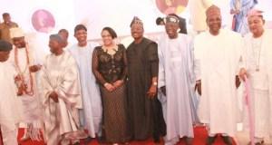 L-R: A former Governor of Oyo State, Dr. Omololu Olunloyo; Ooni of Ife, Oba Adeyeye Ogunwusi; former Interim National Chairman of the All Progressives Congress (APC), Chief Bisi Akande; immediate past Governor of Osun State, Ogbeni Rauf Aregbesola; Wife of the governor of Oyo State, Mrs. Florence Ajimobi; state Governor, Senator Abiola Ajimobi; National Leader of the APC, Asiwaju Bola Tinubu; a former Head of State, Gen. Yakubu Gowon; and Alaafin of Oyo, Oba Lamidi Adeyemi, at the maiden Abiola Ajimobi Roundtable, held in Ibadan