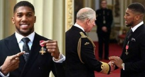 Anthony Joshua...time for honour from Prince Charles...