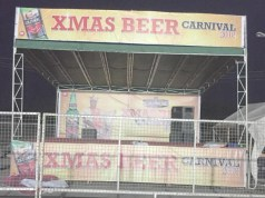 ...the customized stage being used at the venue of Nigerian Breweries Plc's 'Beer Festival'...in Ibadan...this year...